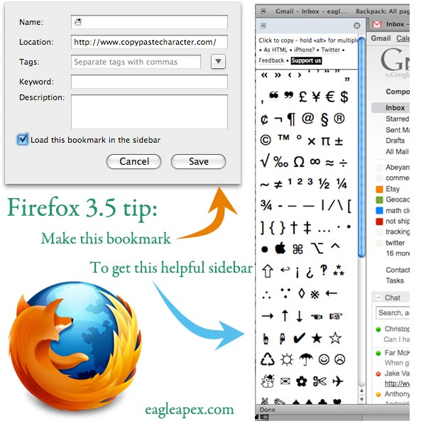 CopyPasteCharacter to Firefox